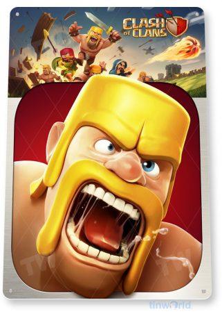 tin sign b125 clash clans smart phone app icon tinworld tinsign_com