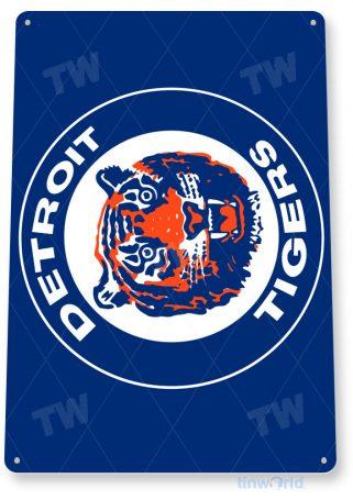 tin sign b135 detroit tigers retro baseball sports sign bar pub cave tinworld tinsign_com