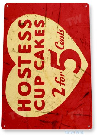 tin sign b158 hostess cup cakes rustic retro heart sign kitchen cottage farm tinworld tinsign_com