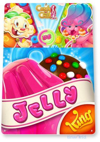 tin sign b164 jelly candy crush smart phone app icon tinworld tinsign_com