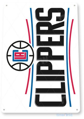 tin sign b169 la clippers retro basketball sports sign bar pub cave tinworld tinsign_com