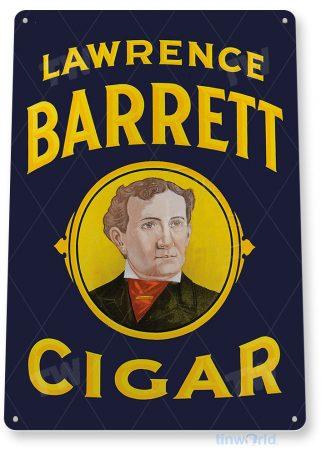 tin sign b170 lawrence barrett retro cigar tobacco smoke shop sign bar cave tinworld tinsign_com