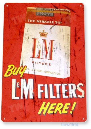 tin sign b172 lm filters retro rustic cigarette cigar tobacco smoke shop sign bar cave tinworld tinsign_com