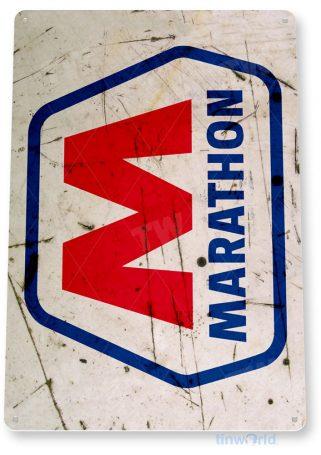 tin sign b175 marathon retro rustic gas station sign garage auto shop cave tinworld tinsign_com