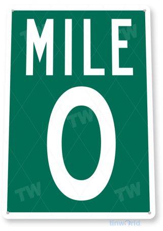 tin sign b178 mile 0 key west road sign cottage garage cave tinworld tinsign_com