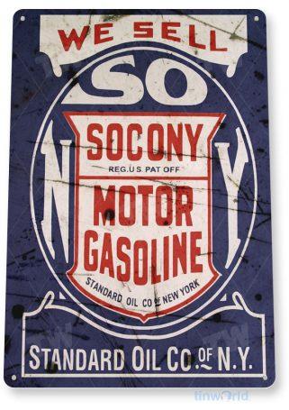 tin sign b202 socony motor gasoline retro rustic gas oil sign garage auto shop cave tinworld tinsign_com