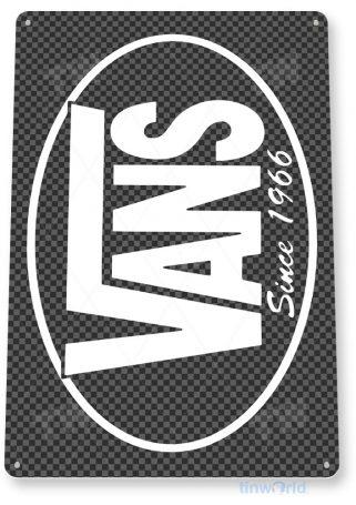 tin sign b206 vans skateboard retro store sign cave tinworld tinsign_com
