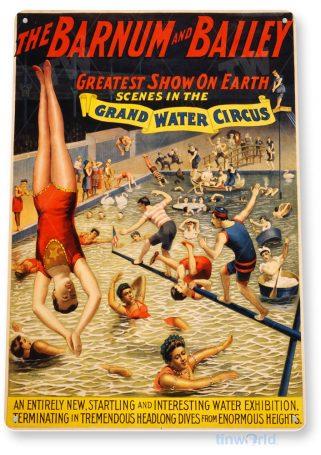 tin sign b219 barnum and bailey retro circus poster tinworld tinsign_com
