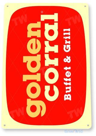 tin sign b230 golden corral tinworld tinsign_com