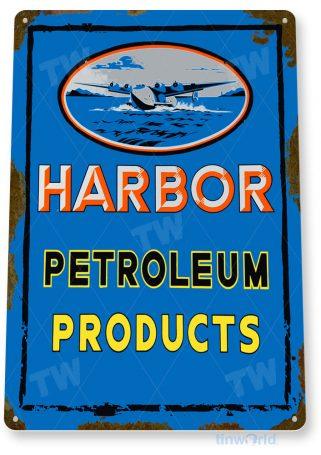 tin sign b231 harbor petroleum retro rustic gas station sign garage auto shop cave tinworld tinsign_com