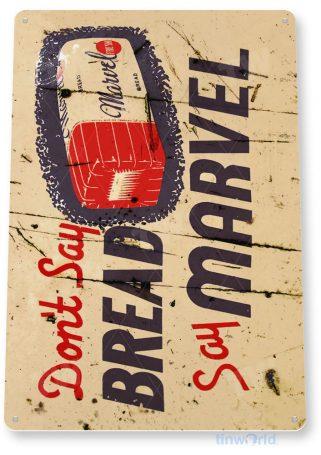 tin sign b239 marvel bread rustic retro bread sign kitchen cottage farm tinworld tinsign_com