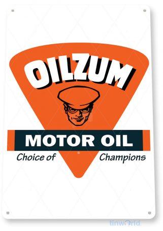 tin sign b242 oilzum motor oil retro gas station sign garage auto shop cave tinworld tinsign_com