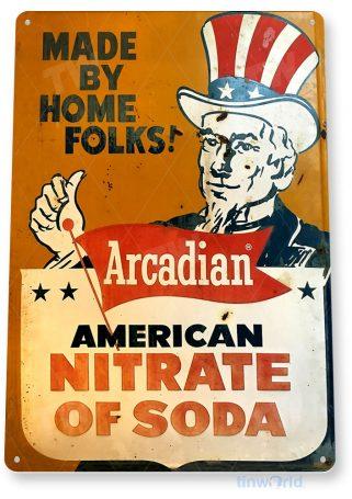 tin sign b248 soda nitrate rustic retro advertisement sign kitchen cottage farm tinworld tinsign_com