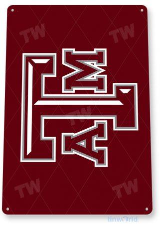 tin sign b253 texas a&m university college sports sign dorm cave tinworld tinsign_com