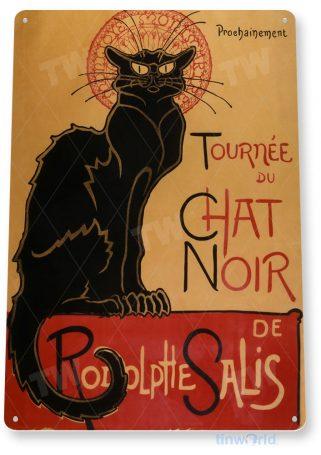 tin sign b254 tournee chat noir paris entertainment cabaret retro sign tinworld tinsign_com