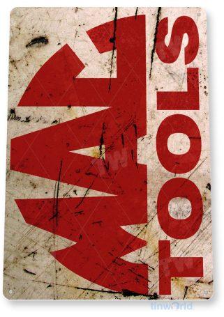 tin sign b274 mac tools rust rustic auto shop sign garage cave tinworld tinsign_com
