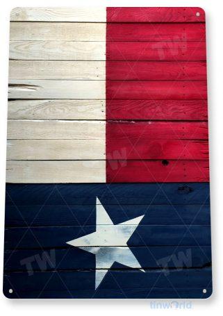 tin sign b288 texas flag rustic cottage farm barn ranch sign tinworld tinsign_com