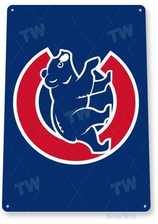 tin sign b291 chicago cubs retro baseball sports sign bar pub cave tinworld tinsign_com