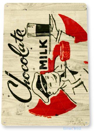 tin sign b292 chocolate milk rustic kitchen cottage farm sign tinworld tinsign_com