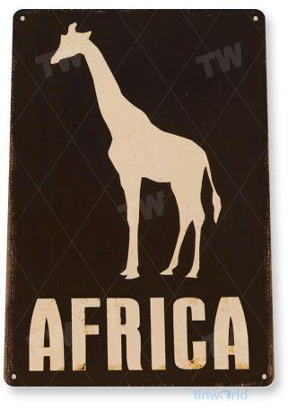 tin sign b311 africa giraffe rustic zoo animal safari sign cottage cave tinworld tinsign_com