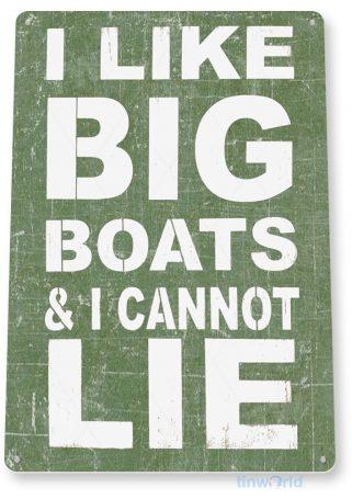 tin sign b318 big boats rustic beach lake house sign cottage cabin marina cave tinworld tinsign_com