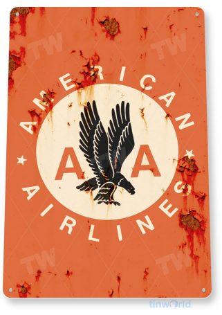 tin sign b332 american airlines rustic retro aviation airport sign hangar garage cave tinworld tinsign_com
