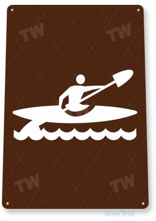 tin sign b342 canoe area street sign camp camping tinworld tinsign_com