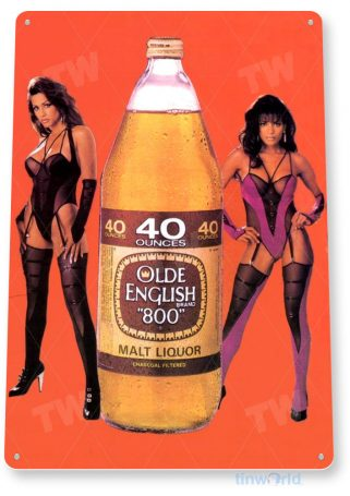 tin sign b367 olde english retro 40oz bar pub beer liquor sign tinworld tinsign_com