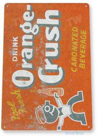 tin sign b370 orange crush soda retro cola sign kitchen cottage farm tinworld tinsign_com