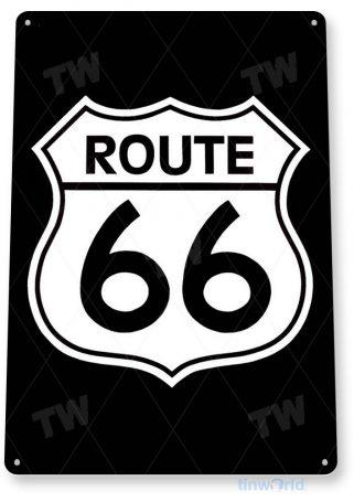 tin sign b375 route 66 street sign garage cave tinworld tinsign_com