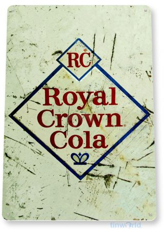 tin sign b376 royal crown cola rustic soda store sign kitchen cottage farm tinworld tinsign_com