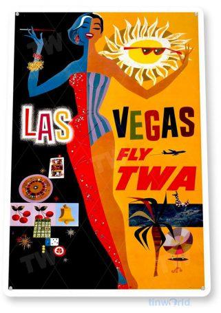 tin sign b392 twa las vegas retro casino sign tinworld tinsign_com