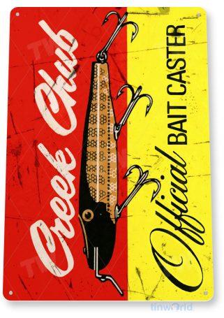 tin sign b404 creek chub bait retro rustic fish fishing lures tackle sign lake beach house cottage tinworld tinsign_com
