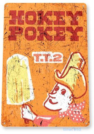 tin sign b415 hokey pokey ice cream popsicle rustic retro store sign parlor kitchen cottage farm tinworld tinsign_com