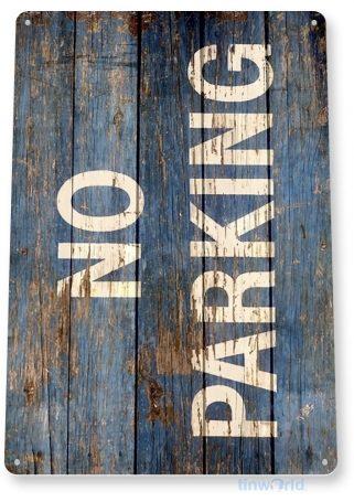 tin sign b416 no parking rustic beach lake house cottage farm barn tinworld tinsign_com