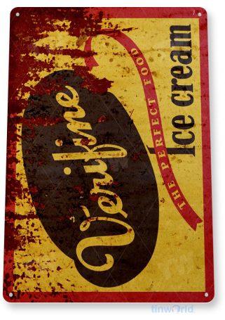 tin sign b420 verifine ice cream rustic retro store sign parlor cafe kitchen bar cottage tinworld tinsign_com
