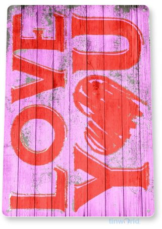 tin sign b432 love you valentines day rustic holiday heart kitchen cottage farm tinworld tinsign_com