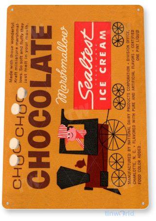 tin sign b456 sealest chocolate marshmallow retro ice cream store sign parlor kitchen cottage tinworld tinsign_com