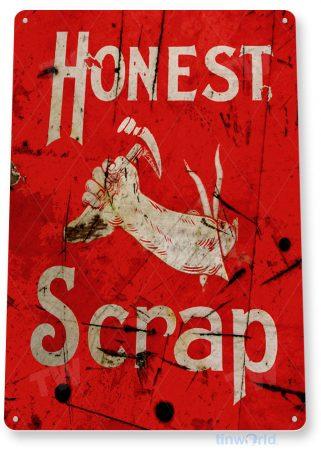 tin sign b504 honest scrap rustic retro garage machine shop sign garage cave tinworld tinsign_com