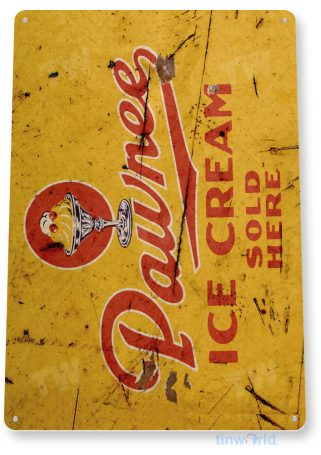 tin sign b515 pawnee ice cream shop rustic retro ice cream parlor sign kitchen cottage tinworld tinsign_com