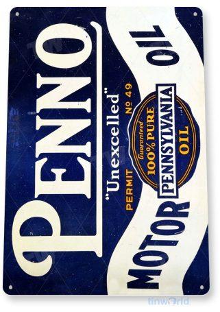 tin sign b517 penno motor oil retro rustic gas station sign garage auto shop cave tinworld tinsign_com