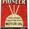 tin sign b520 pioneer motor oil retro rustic gas station sign garage auto shop cave tinworld tinsign_com