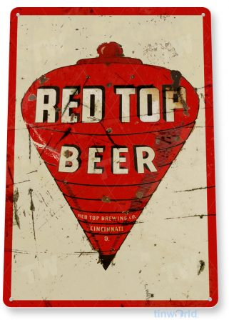 tin sign b521 red top beer rustic retro bar pub beer sign cottage cave tinworld tinsign_com