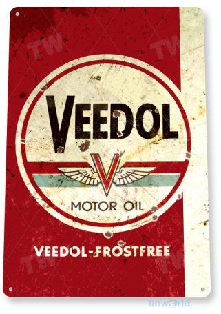 tin sign b534 veedol motor oil sign gas oil auto garage rustic tinworld tinsign_com