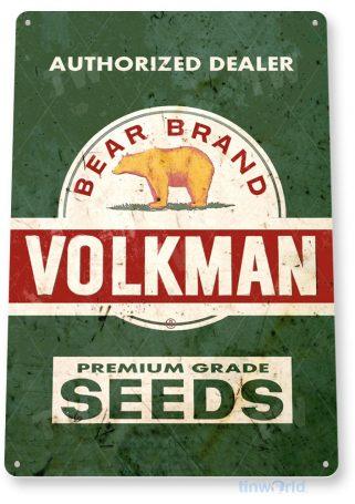 tin sign b537 volkman seeds feed seed farm ranch sign rustic tinworld tinsign_com