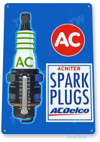 tin sign b541 ac spark plugs garage auto shop parts sign tinworld tinsign_com
