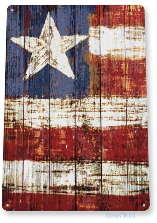 tin sign b549 american flag rustic art usa 4th july cottage cave tinworld tinsign_com