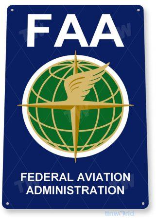 tin sign b563 faa federal aviation administration feds fbo pilot shop hangar cave tinworld tinsign_com