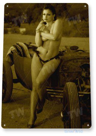 tin sign b603 bucket list hot rod pin-up girl auto shop garage cave tinworld tinsign_com