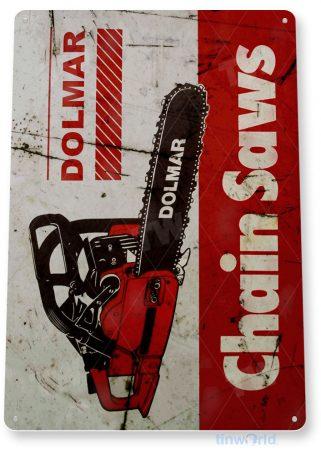 tin sign b606 dolmar chain saws tools equipment garage shop rustic tinworld tinsign_com